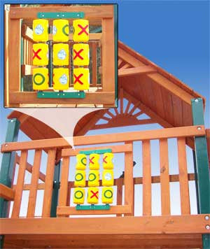Tic-Tac-Toe Spinner Panel For Wooden Swing Set