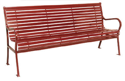 Hamilton Horizontal Bench with Back (6' Long)