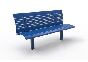 Richmond Steel Bench with Back | WillyGoat Playground & Park Equipment