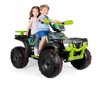 Polaris Sportsman X850 - Lime Electric Riding Vehicle | WillyGoat Playground & Park Equipment