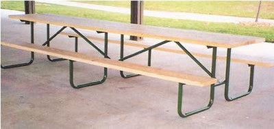 Shelter Table 16S Series 12 Foot Treated Lumber