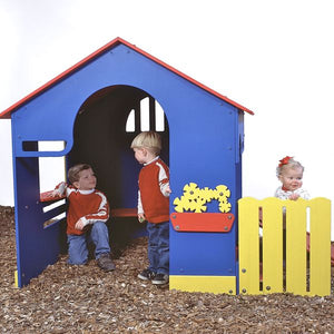 Tot Town Outdoor Tot House (Primary Colors)