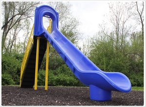Custom Commercial Scoop Slide (7 Foot Deck) | WillyGoat Playground & Park Equipment