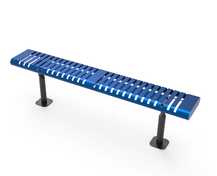 Horizontal Slat Bench without Back
