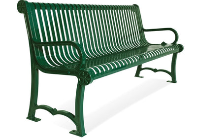 Charleston Bench with Back