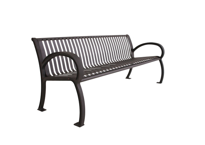 Wilmington Vertical Slat Bench with Back