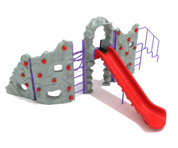Craggy Summit Climbing Playground with Slide