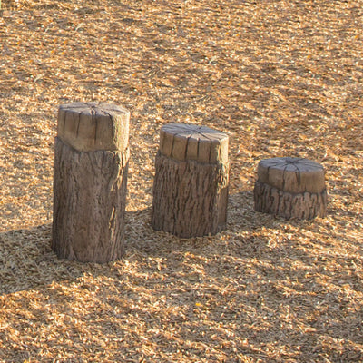 Nature Themed Tree Stump Steppers - Set Of 3