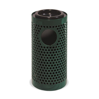 Trash And Ash Receptacle Combo With Liner, Set of 2
