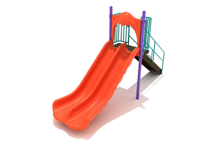 Double Straight Slide - 5 Foot Deck