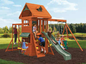Ridgeview Clubhouse Deluxe Wooden Swing Set
