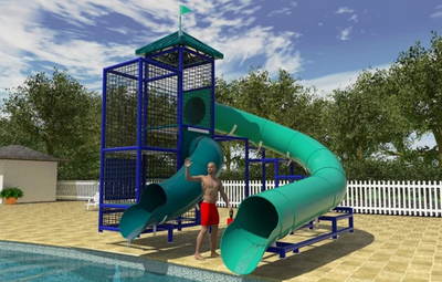 Commercial Water Slide 110 | WillyGoat Playground & Park Equipment