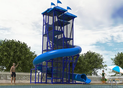 Commercial Water Slide 403 | WillyGoat Playground & Park Equipment