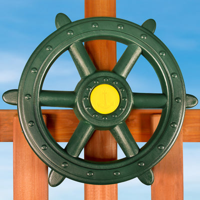 Large Ship's Wheel Swing Set Accessory | WillyGoat Playground & Park Equipment