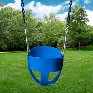 Full Bucket Seat With Chain (Green, Yellow, Blue, or Pink) | WillyGoat Playground & Park Equipment