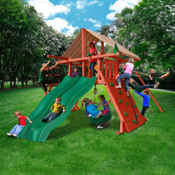 Sun Climber Extreme Wooden Swing Set