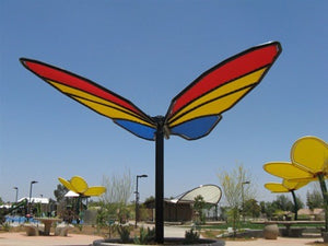 Butterfly Wings Down Shade Structure | WillyGoat Parks and Playgrounds