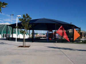 Octagon Shade Structure with 8 Posts | WillyGoat Parks and Playgrounds