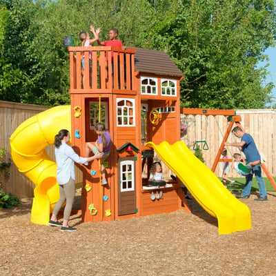 Lookout Extreme Wooden Swing Set / Play Set | WillyGoat Playground & Park Equipment