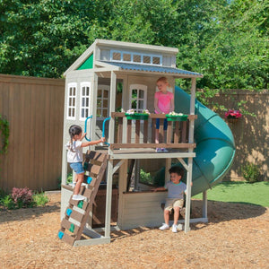 Cozy Escape Playhouse - KidKraft Clubhouse with Tube Slide | WillyGoat