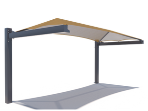 Full Cantilever Hip Roof Shade Structure with 10' Entry | WillyGoat.com