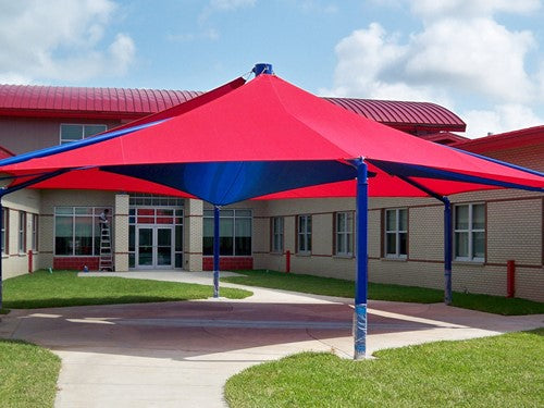 Mariner Hexagon Shade Structure with 6 Posts