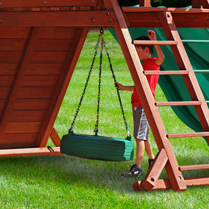Sun Palace Extreme Wooden Swing Set - Standard Wood Roof