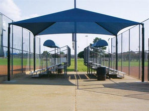 Hip Roof Shade Structure with 4 Posts | WillyGoat Playground & Park Equipment