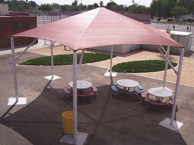 Hexagon Shade Structure with 6 Posts | WillyGoat Parks and Playgrounds