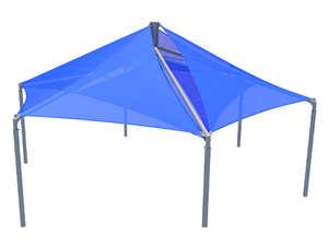 Mariner Hexagon Shade Structure with 6 Posts | WillyGoat.com