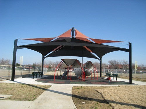 Mariner Pyramid Shade Structure with 4 Posts