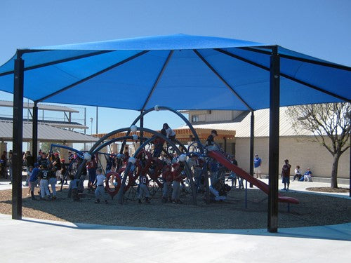 Octagon Shade Structure with 8 Posts