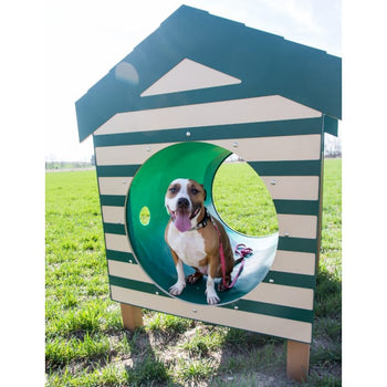 Recycled Crawl Tunnel with Dog House