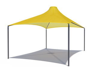 Sahara Roof Shade Structure with 4 Posts and 14' Entry | WillyGoat.com