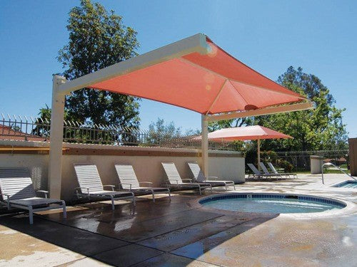 Full Cantilever Hip Roof Shade Structure