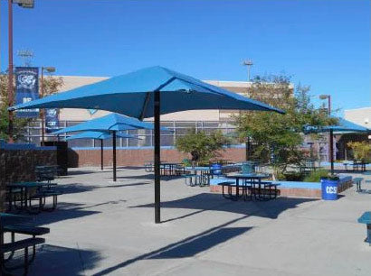 Single Post Pyramid Roof Shade Structure