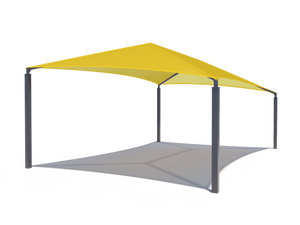 Slanted Hip Shade Structure with 4 Posts | WillyGoat Parks and Playgrounds