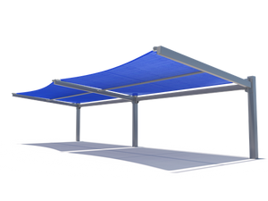 Slanted Cantilever Wing Cabled Shade Structure | WillyGoat Parks and Playgrounds