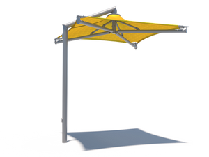 Solana Cantilever Single Post Shade Structure