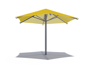 Hexagon Single Post Umbrella Roof Shade Structure
