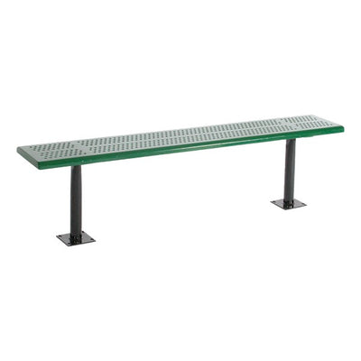 Perforated Steel Park Bench without Back