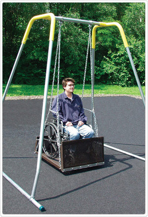 ADA Accessible Single Swing, Set and/or Platform | WillyGoat Playground & Park Equipment