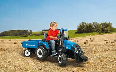 New Holland T8 Tractor Electric Riding Vehicle | WillyGoat Playground & Park Equipment