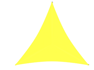 Triangle Shade Structure with 3 Posts Top View