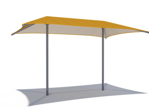 Hip Roof Shade Structure with 2 Posts | WillyGoat Parks and Playgrounds
