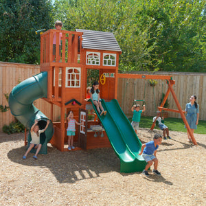 Copper Ridge Wooden Swing Set / Play Set | WillyGoat Playground & Park Equipment