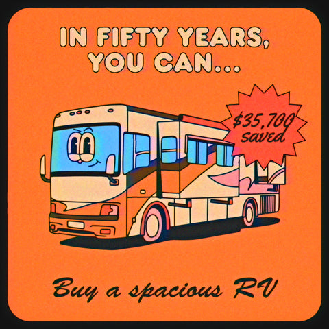 How much money you save when you quit smoking: buy a spacious RV in fifty years