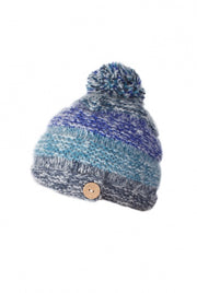 Hand Knit Bobble Beanie. 100% Wool.