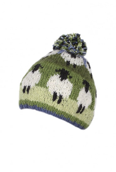 Fields of Sheep Bobble Beanie