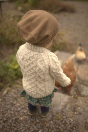 Kids Handknit Aran Sweater